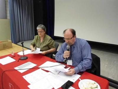 Agathe Gaulin, directrice générale intérimaire de la Fédération des aînés fransaskois (FAF) et Roger Gauthier, directeur général du Réseau Santé en français de la Saskatchewan