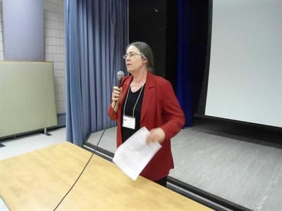 Dre Anne Leis, présidente du Réseau Santé lors de l'AGA  du RSFS