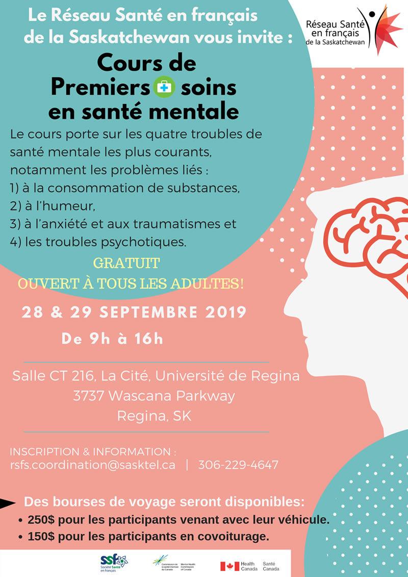 Formation en santé mentale à Regina