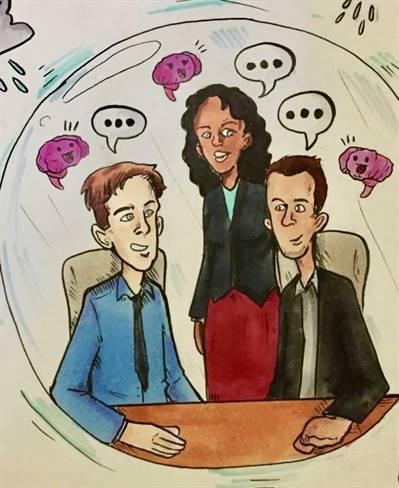Une « bulle de sécurité psychologique », selon l'imagination d'un dessinateur de 14 ans.