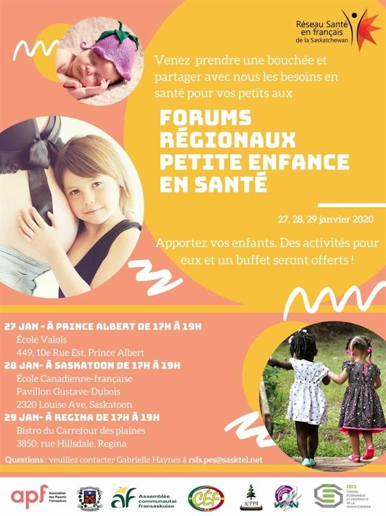 Forums régionaux - Petite enfance en santé