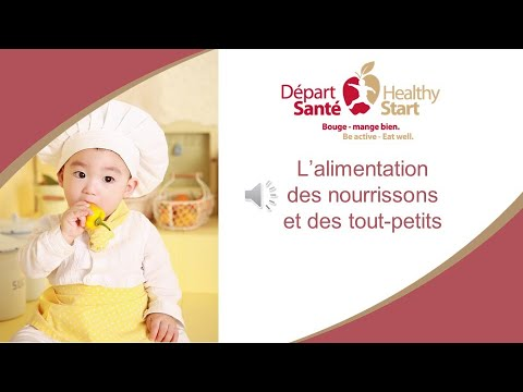 Webinaire Départ Santé : L'alimentation des nourrissons et des tout-petits